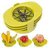 Bibetter Apfel Birne Corer Slicer Tomatenschneider 4in1 Multifunktions-Obstschneidemaschinen-Set...