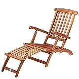 Sonnenliege Queen Mary Akazien Holz Verstellbar Fusegment klappbar Sonnenstuhl Deckchair Garten...