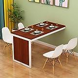 ZXCMNB Klappbarer Esstisch Wandmontage Ausklappbarer Tisch MDF-Multifunktions-Schreibtisch for Zu...