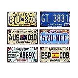 Easy Painter 6 Stück x 6 x 12 USA Auto Metall Nummernschild Vintage Home Decor Blech Schild Bar Pub...