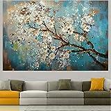XYAN Grün 100% handgemaltes Blumen und Baum Zeichnen Mordens Ölgemälde auf Leinwand Wandbilder...