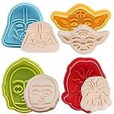 BETOY Star Wars Ausstechformen Plunger 4er-Set - zufällige Farben -Ausstechformen Plätzchenformen...