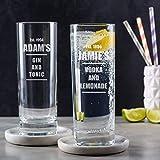 Personalisiertes Ginglas - Highball Glas mit Gravur - Alkohol Geschenke graviert -...
