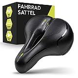 VELAAS ® Fahrradsattel – Memory Foam Sattel mit Regencover - ergonomisches Hollow Design –...