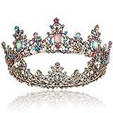 Coucoland Königin Krone Barock Stil Braut Tiara Retro Hochzeit Krone Luxus Prinzessin Diadem...