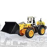 W&HH RC Bagger,Rc Radlader,Fernbedienung Bulldozer Kinder Geschenk 2,4G RC Loader Traktor Elektro...