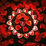 Bdecoll Tischdekoration Valentinstag,Liebeskerzen Kerzen rauchfreie Teelicht | 1000Seide Rosen...