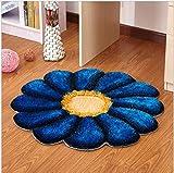 WCZ Teppich Europäischen Kreative runde Teppiche Sonne Blume Blau Verdicken Rutschfeste...