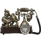 MYYINGBIN Antikes Telefon Festnetz Mit Klassischen Retro Klingeltönen Anrufer Display Retro Style...