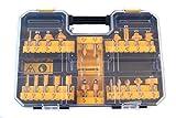 DeWalt Hartmetall Fräser Set (22-tlg., mit Anti Kickback Design, Premium Stahlkörper, HM...