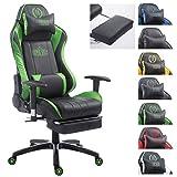 CLP XL Racing Bürostuhl Shift X2 mit Kunstlederbezug l Höhenverstellbarer Drehstuhl mit und ohne...