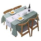 BOZONLI Tischdecke Tischtuch Tischwäsche Tischdekoration PVC Tafeltuch Wasserdicht und Einfach zu...