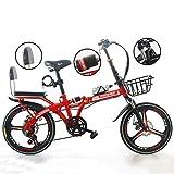 LYTLD Tragbares Klapprad, Citybike, Faltbares Fahrrad-Stoßdämpfer für Erwachsene Männer und...
