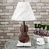 Tischleuchte, Schreibtischlampe, Vintage, Violin Tischlampe, kreatives Lesen, zum Schutz der Augen,...