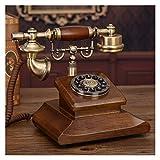 WSZMD Retro Wandtelefon Classic Corded Telefon Vintage Telefon Festnetzschaltfläche, Für Home...