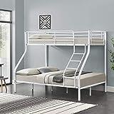 neu.haus Kinder Etagenbett - Weiß - 200x140/90cm Kinderbett Stockbett Hochbett Metall Bettgestell