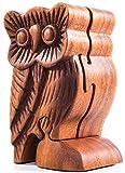 WINDALF Geschenkdose Schmuckdose FJÔDOR 11.5 cm Eule Schmuckschatulle Handarbeit aus Holz