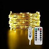 BOXIANGY LED Lichterkette Fernbedienung Weihnachtsdeko