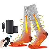GZWY Beheizte Socken, Fußwärmer Elektrisch, Wiederaufladbare Warme Socken, 3 Heizungseinstellungen...