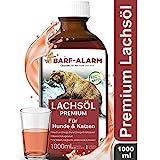 barf-alarm Premium Lachsl fr Hunde 1 Liter mit Omega 3 und Omega 6 Fettsuren  Fischl fr den Hund &...
