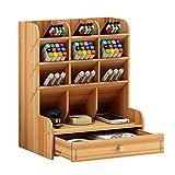 Schreibtisch-Organizer aus Holz, multifunktionale Schublade, Schreibwaren,...