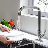 Umi. by Amazon - Wasserhahn für Küche 360° Drehbar Küchenarmatur mit 2 Strahlarten 304 Edelstahl...