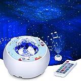 Riarmo Sternenhimmel Projektor,LED Sternenlicht Projektor mit Farbwechsel Musikspieler & Bluetooth...