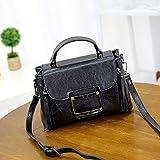 DJBSTB Handtasche Oil Leder Lock Bag Schulter Diagonale Tasche Damen Messenger Bag
