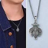 WOZUIMEI Sterling Silber Ohrringe Choker Halskette Herren Galvanisiert S925 Sterling Halskette...