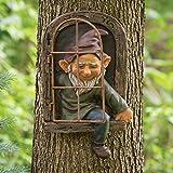 Gartenzwerge, Garten GNOME Statue, Resin Crafts Garden Decor Wunderliche Baum Skulptur Garten...