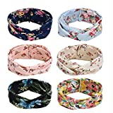Willingood 6er Stirnband Damen Blumen Haarband damen Haarreifen damen Headwrap...