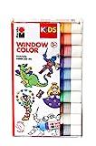 Marabu 0306000000100 - Kids Window Color Set, Farbe auf Wasserbasis, ablösbar auf glatten Flächen...