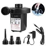 Pomisty Elektrische Luftpumpe,Elektrische Pumpe Multifunktion Elektropumpe mit 3 Luftdse Kompressor...
