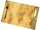 zsxaaasdf Placemats Set of 6 Heat-Resistant Placemats Stain Resistant Anti-Skid Washable Ukraine...