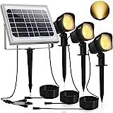CLY Solarstrahler,Solarleuchten Garten,3Stück Gartenleuchte Solar 450LM LED Strahler Außen,IP66...