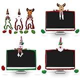 3er Pack Weihnachtsmonitor Abdeckung 3D Schneemann, Elch, Weihnachtsmann Dekorative Weihnachten...