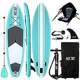 Aufblasbares SUP Board für Stand Up Paddle Board (15cm Dick) | Surfbrett Sets mit Hochdruck-Pumpe +...