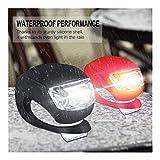 XWZH Fahrradlichter Fahrrad Vorderlicht Rücklicht Set 3 Schwarz + 3 Rot Fahrrad Rücklicht Tragbare...