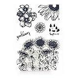 Ncbvixsw New Sonnenblumen DIY Silikon Klar Siegel Stempel Scrapbooking Album Foto, DIY Weihnachten...