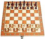 DZCGTP Tragbares Schachspiel, Schachspiel International Chess Folding Board Chess Game Travel...