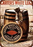 DKISEE Aluminum Safety Sign 1910 Carter's White Lead Paint Vintage Look Reproduction Durable Rust...