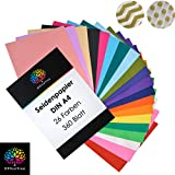 OfficeTree Seidenpapier 360 Blatt A4 - bunt 26 Farben - mehr Spa am Basteln Gestalten Dekorieren -...