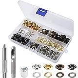 ZOUD 100 Sets Lochösen Set 4 Farben 8mm Tülle Werkzeug Kit Kupfer mit Box Plane Öse Werkzeug...