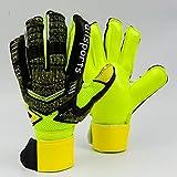 Deniseonuk Torwarthandschuhe mit Fingerspitzen Fußballtorwarthandschuhe für Kinder Dicker...