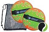 Schildkrt Neopren Klettball Set, 2 Neopren Handfnger mit weitenverstellbarer Handschlaufe, 1 Ball (...