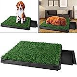Befied Hundetoilette Welpentoilette mit Kunstrasen, Trainingsunterlage Indoor für Hunde Tier WC,...