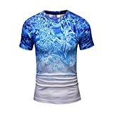 MAYOGO Enges T-Shirt Herren Kurzarm Sommer 3D Tshirt Fun T Shirt Tops mit Rundhalsausschnitt
