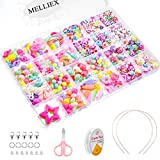 MELLIEX 500pcs DIY Perlen zum Auffädeln, Craft Perlen Basteln Set für Kinder Schmuck Selber Machen...