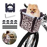 Faltbar Fahrrad vorne Korb, Fahrradkorb vorne, mit Lenkeradapter, Einkaufstasche mit Bequemen...