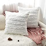 Amazon Brand - Umi 2er Set Kissen Kissenbezüge, Dekorative Quaste Design 40×40cm Cotton...